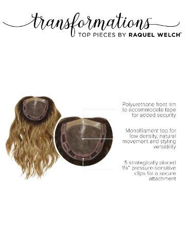 solutions photo gallery toppers synthetic hair toppers raquel welch transformations alpha wave 16 inch 05 womens hair loss raquel welch synthetic hair topper transformations 01